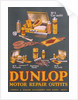 Poster advertising Dunlop products by Unknown