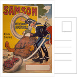 Poster advertising Samson tyres by Thor