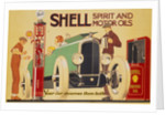 Poster advertising Shell spirit and motor oils by René Vincent