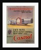 Poster advertising Castrol oil, featuring Bluebird and Malcolm Campbell by Anonymous
