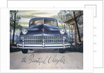 Poster advertising a Chrysler, 1946 by Unknown