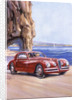 Poster advertising an Alfa Romeo 6C 2500 Super Sports by Anonymous