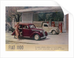Poster advertising a Fiat 1100 by Anonymous