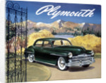 Poster advertising the Plymouth Special de Luxe Sedan by Anonymous