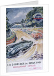 The official programme for Le Mans 24 Hours, 1954 by Unknown