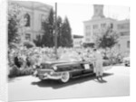 Cadillac convertible in a street parade by Anonymous