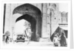 1930 Cadillac saloon beneath the Amber Gate, Jaipur by Anonymous
