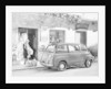 Fiat 600 Multipla outside a shop by Anonymous