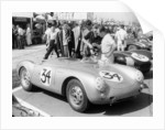 Stirling Moss with Porsche RSK by Anonymous