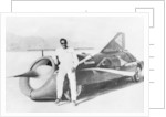 Art Arfons with 'Green Monster' Land Speed Record car by Anonymous