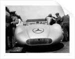 Mercedes Streamliner car at Avus motor racing circuit by Anonymous