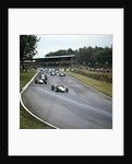 Jack Brabham leading the race by Anonymous