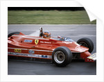 Gilles Villeneuve racing a Ferrari 312T5 by Anonymous
