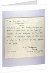 A letter from General Montgomery to Henry Ford by General Montgomery