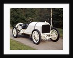 A white 1908 Benz racer by Unknown