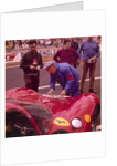 The Ferrari pit by Anonymous
