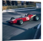 Lorenzo Bandini driving a Ferrari 246, in the Monaco Grand Prix by Anonymous