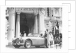 Aston Martin DB2-4 outside the Hotel Carlton, Cannes, France, 1955 by Unknown