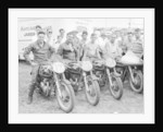 Matchless motorbike racing team by Unknown