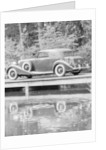 A 1933 Hispano-Suiza K6 reflected in a lake by Unknown