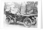 Men riding in a 16hp De Dietrich car by Anonymous