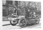 A 1904 De Dion car parked in a street by Anonymous