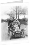 A man and boys in a De Dion car by Anonymous