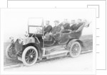 Sailors in a Humber car by Anonymous
