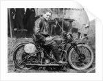 FW Dixon with a HRD motorbike by Anonymous
