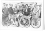Bill Lacey and Tommy Atkins with a Norton bike by Anonymous