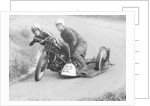 H Wilderspin taking part in the Gurston Hill Climb, on a 1936 Matchless bike by Anonymous