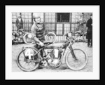 FW Dixon with a Harley-Davidson by Anonymous