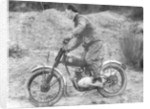Cullen riding a Francis Barnett bike at the J White Trial by Unknown