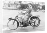 A woman on a Douglas motorbike, (c1913?) by Unknown