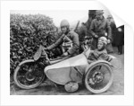 Freddie Dixon and passenger Walter Denny, Isle of Man sidecar TT race by Anonymous