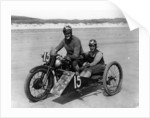 CE Edwards on a Brough Superior by Anonymous