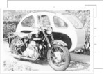 An Ariel Square 4 1000cc, with a large sidecar by Anonymous