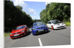 VW Golf GTi Renault Megane Sport R26R and Ford Focus RS 2009 by Simon Clay