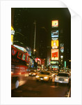 New York city street at night by Unknown