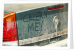 Graffiti on dirty Vauxhall Vectra 2003 by Unknown