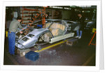 Lamborghini factory 1988.Countach under construction by Unknown