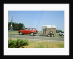 1997Ford Maverick towing horse box by Unknown