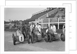 Austin 7 works team, Brooklands 1937 by Bill Brunell