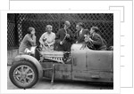 Denis Evans inspecting the plugs of his Bugatti Type 43 2262cc by Bill Brunell