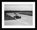 Rapier Special Racing single seater leading a MG in a race on the Campbell Circuit at Brooklands by Bill Brunell