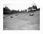 Invicta, Talbot and Frazer-Nash cars racing on the Members Banking at Brooklands by Bill Brunell