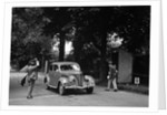 JB Thompson's Ford V8 on the way to winning bronze in the MCC Torquay Rally, July 1937 by Bill Brunell