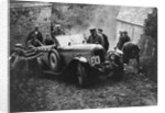 Morris or MG 14/28 of MH Fortlage receiving a push in the JCC Lynton Trial, 1932 by Bill Brunell