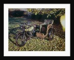 1913 BAT motorcycle with wicker sidecar by Unknown