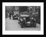 MG 18/80 of CF Dobson and Ford Model A of EAL Midgley at the MCC Sporting Trial, 1930 by Bill Brunell